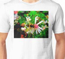 Wasp on Flower Unisex T-Shirt
