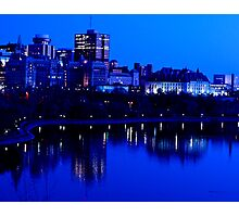 City Night Reflections Photographic Print