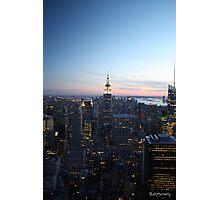 New York at dusk Photographic Print