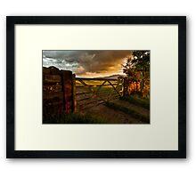 Under Summer Clouds Framed Print
