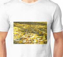 Selective focus on the leaves with a blurred background Unisex T-Shirt