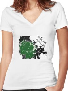 Saint Patrick Women's Fitted V-Neck T-Shirt