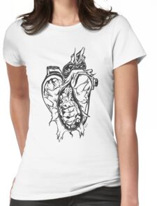 Crushed Heart Womens Fitted T-Shirt