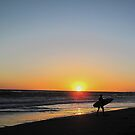 Surfing and Sunset by Christine Anna Wilson