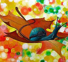 NATURE'S COME-BACK original surreal painting print by SFDesignstudio