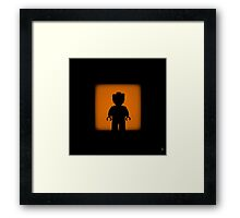 Shadow - Business is business Framed Print
