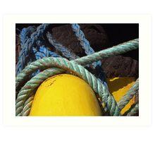 yellow sub marine  Art Print