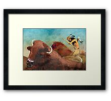 Buffalo Hunter Framed Print