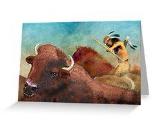 Buffalo Hunter Greeting Card