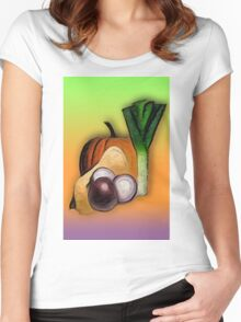 Vegetables 3 /  The Fruit Shop Women's Fitted Scoop T-Shirt