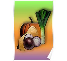 Vegetables 3 /  The Fruit Shop Poster