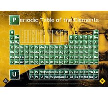 Periodic Table of the Elements Photographic Print