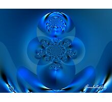 MOTHER EARTH BUDHA IN BLUE Photographic Print