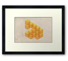 yellow cubes Framed Print
