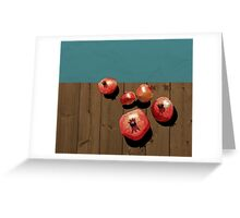 Pomegranate on the Edge Greeting Card
