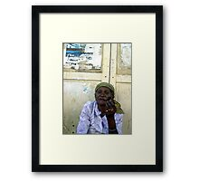smoking  is not a crime  Framed Print