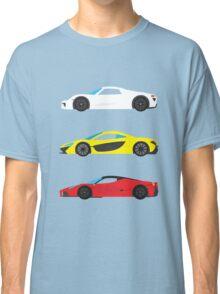 """Modern European Dream Cars """"The Trinity"""" Classic T-Shirt"""