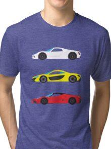 """Modern European Dream Cars """"The Trinity"""" Tri-blend T-Shirt"""
