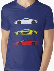"Modern European Dream Cars ""The Trinity"" Mens V-Neck T-Shirt"