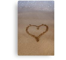 Love and the Beach Canvas Print