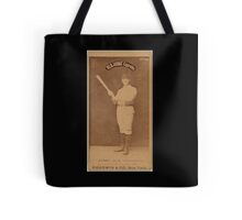 Benjamin K Edwards Collection Jerry Denny Indianapolis Hoosiers baseball card portrait 002 Tote Bag