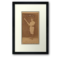 Benjamin K Edwards Collection Jerry Denny Indianapolis Hoosiers baseball card portrait 002 Framed Print