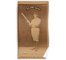 Benjamin K Edwards Collection Jerry Denny Indianapolis Hoosiers baseball card portrait 002 Poster