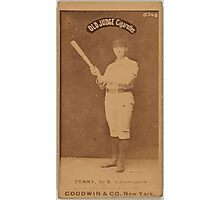 Benjamin K Edwards Collection Jerry Denny Indianapolis Hoosiers baseball card portrait 002 Photographic Print