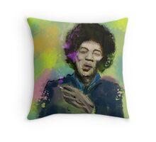 Jimi Colourised  Throw Pillow