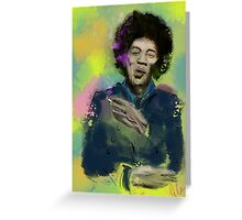 Jimi Colourised  Greeting Card