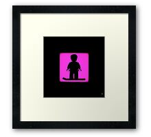 Shadow - Hoverboard Framed Print