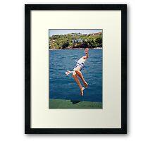 Island Hopping Boy© Vicki Ferrari Framed Print