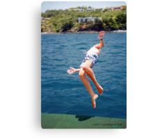 Island Hopping Boy© Vicki Ferrari Canvas Print