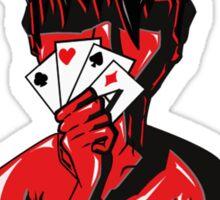 Poker Face (White) Sticker