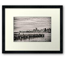 The Stormy Pier Framed Print