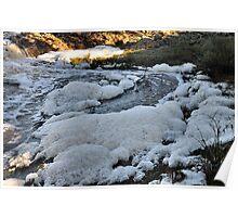 Flood Foam - Cootamundry Creek NSW Australia Poster