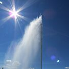 Sun and water fountain by Jackson  McCarthy