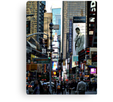 The Hustle and Bustle and Beauty of Times Square, NYC Canvas Print