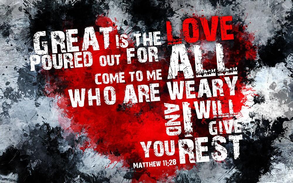 Matt 11:28 Encouragement Verse by Torack