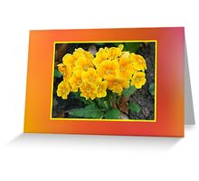 Yellow Flowers Mother's Day Card Greeting Card