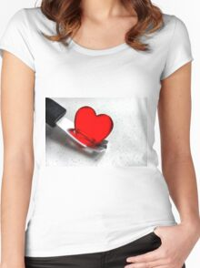 Carefully With .......... Women's Fitted Scoop T-Shirt