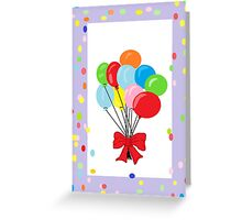 Lovely Balloons Festive Border Greeting Card Greeting Card