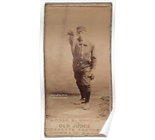 Benjamin K Edwards Collection Chief Zimmer Cleveland Spiders baseball card portrait Poster