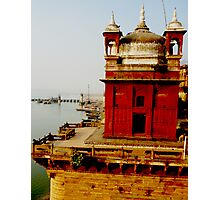 Maharaja's temple by the Ganges in India. Photographic Print
