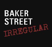 Baker Street Irregular (white) Kids Tee