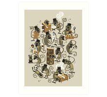 Monkey Magic (brown) Art Print
