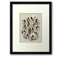 Monkey Magic (brown) Framed Print