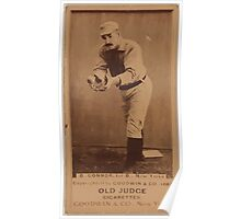 Benjamin K Edwards Collection Roger Connor New York Giants baseball card portrait 003 Poster