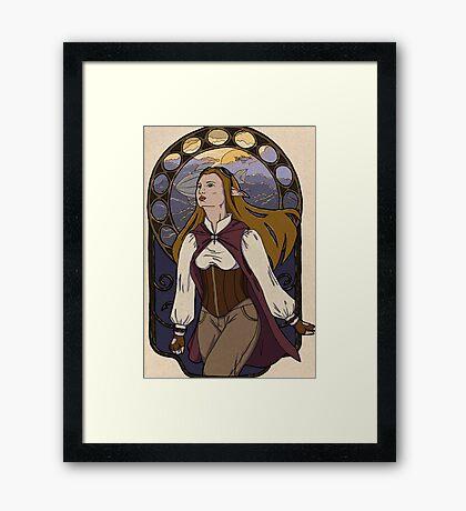 Lorena - Airship Captain Framed Print