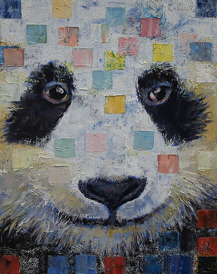 Panda Checkers by Michael Creese